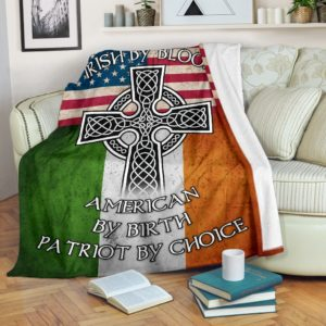 Irish Cross Flag Blanket@_springlifepro_dsgdfghf@premium-blanket Irish Cross Flag Blanket Fleece Blanket, Personalized Gifts, Custom Blanket 602159