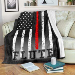 FLUTE AMERICAN FLAG BLACK BLANKET@_springlifepro_FLUTE45EF4E@premium-blanket Flute American Flag Black Blanket Fleece Blanket, Personalized Gifts, Custom Blanket 602120