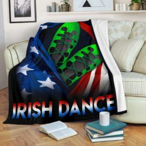 Irish Dance - Flag USA Blanket@_springlifepro_dgfhgh@premium-blanket Irish Dance - Flag Usa Blanket Fleece Blanket, Personalized Gifts, Custom Blanket 601964