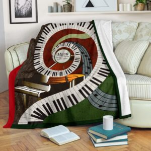Music was my first love - Piano Blanket@_springlifepro_gjghf342@premium-blanket Music Was My First Love - Piano Blanket Fleece Blanket, Personalized Gifts, Custom Blanket 601421