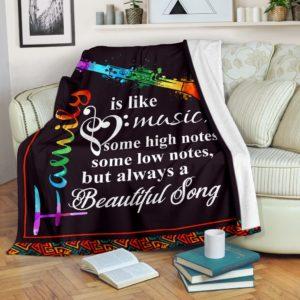 Clarinet Blanket - Family is like music@_springlifepro_clartbl9882@premium-blanket Clarinet Blanket - Family Is Like Music Fleece Blanket, Personalized Gifts, Custom Blanket 601369