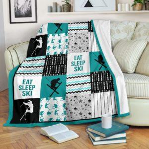 skiing shape pattern blanket LQT@_springlifepro_skiing398399@premium-blanket Skiing Shape Pattern Blanket Lqt Fleece Blanket, Personalized Gifts, Custom Blanket 601356