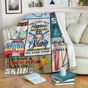 SKIING- YOU CAN'T BUY HAPPINESS PRE BLANKET@_springlifepro_SKII1v212v1@premium-blanket Skiing- You Can'T Buy Happiness Pre Blanket Fleece Blanket, Personalized Gifts, Custom Blanket 601029