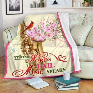 saxophone bird flower blanket@_springlifepro_saxop6788@premium-blanket Saxophone Bird Flower Blanket Fleece Blanket, Personalized Gifts, Custom Blanket 600717