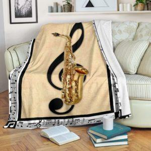saxophone muisc note painting blanket@_springlifepro_saxophon647637@premium-blanket Saxophone Muisc Note Painting Blanket Fleece Blanket, Personalized Gifts, Custom Blanket 600691