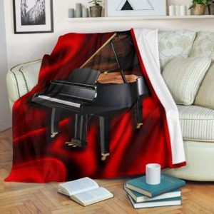 PIANO SILK BACKGROUND BLANKET - LQT@_springlifepro_PIANO21632@premium-blanket Piano Silk Background Blanket - Lqt Fleece Blanket, Personalized Gifts, Custom Blanket 600665