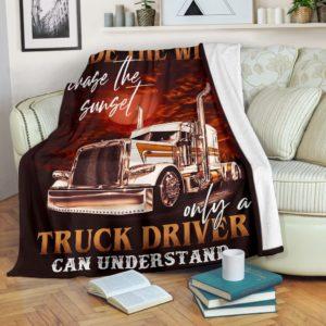 Trucker Blanket@_rockinbee_trucker_race_111@premium-blanket Trucker Blanket Fleece Blanket, Personalized Gifts, Custom Blanket 600596