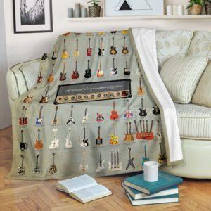 Guitar Blanket@_rockinbee_guitar_visual_1810@premium-blanket Guitar Blanket Fleece Blanket, Personalized Gifts, Custom Blanket 600583