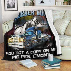 Trucker Blanket@_rockinbee_trucker_duck_111@premium-blanket Trucker Blanket Fleece Blanket, Personalized Gifts, Custom Blanket 600365