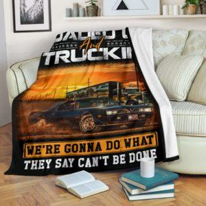 Trucker Blanket@_rockinbee_trucker_load_111@premium-blanket Trucker Blanket Fleece Blanket, Personalized Gifts, Custom Blanket 600300