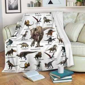 Dinosaur Blanket@_rockinbee_teacher_dino_510@premium-blanket Dinosaur Blanket Fleece Blanket, Personalized Gifts, Custom Blanket 600196