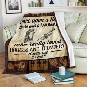 Once upon a time - horses and trumpets@_proudteaching_Ov232dv@premium-blanket Once Upon A Time - Horses And Trumpets Fleece Blanket, Personalized Gifts, Custom Blanket 599498