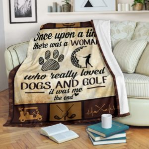 Once upon a time - Dogs and golf@_proudteaching_golfu839390@premium-blanket Once Upon A Time - Dogs And Golf Fleece Blanket, Personalized Gifts, Custom Blanket 599334