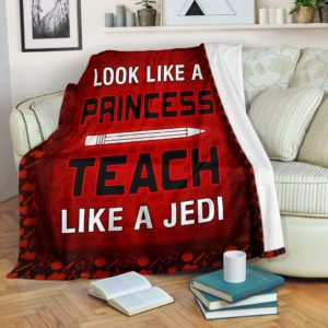 Teacher Look like a Princess Blanket@_proudteaching_sfdgdfh@premium-blanket Teacher Look Like A Princess Blanket Fleece Blanket, Personalized Gifts, Custom Blanket 599161