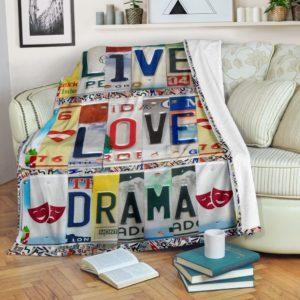 live love drama LICENSE PLATES BLANKET@_proudteaching_livehhufrrrr@premium-blanket Live Love Drama License Plates Blanket Fleece Blanket, Personalized Gifts, Custom Blanket 599111