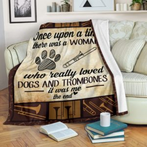 Once upon a time - Dogs and trombones@_proudteaching_Oncv232dv3@premium-blanket Once Upon A Time - Dogs And Trombones Fleece Blanket, Personalized Gifts, Custom Blanket 599024