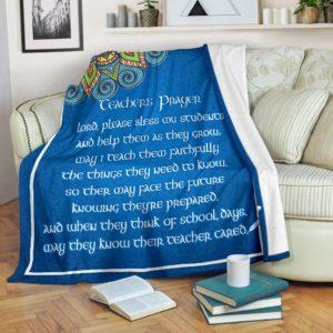 Teacher's Prayer Premium Blanket@_proudteaching_teapraybla4875@premium-blanket Teacher'S Prayer Premium Blanket Fleece Blanket, Personalized Gifts, Custom Blanket 598965