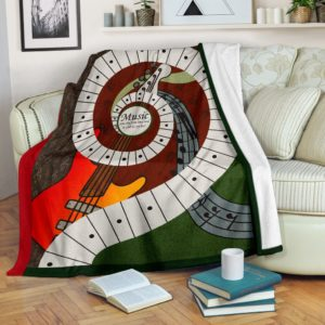 Music was my first love - Electric guitar Blanket@_proudteaching_Electricguitar645@premium-blanket Music Was My First Love - Electric Guitar Blanket Fleece Blanket, Personalized Gifts, Custom Blanket 598915