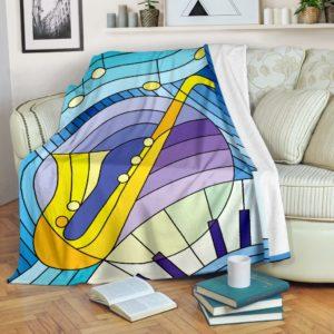 Saxophone Conspiracy Blanket@_proudteaching_saxcon7836@premium-blanket Saxophone Conspiracy Blanket Fleece Blanket, Personalized Gifts, Custom Blanket 598835