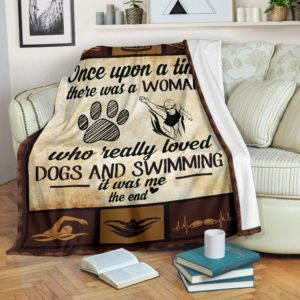 Once upon a time - Dogs and swimming@_proudteaching_Onc136c23sa@premium-blanket Once Upon A Time - Dogs And Swimming Fleece Blanket, Personalized Gifts, Custom Blanket 598683