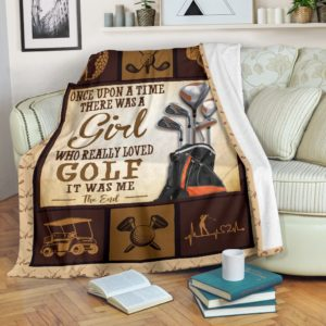 ONCE UPON A TIME THERE WAS A GIRL - GOLF@_proudteaching_ONv3v3d@premium-blanket Once Upon A Time There Was A Girl - Golf Fleece Blanket, Personalized Gifts, Custom Blanket 598644