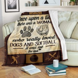 Once upon a time - Dogs and softball@_proudteaching_Onc11sb2hf3@premium-blanket Once Upon A Time - Dogs And Softball Fleece Blanket, Personalized Gifts, Custom Blanket 598566