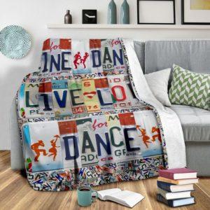 LINE DANCE LIVE LOVE DANCE LICENSE PLATES BLANKET@_proudteaching_LIN1V212@premium-blanket Line Dance Live Love Dance License Plates Blanket Fleece Blanket, Personalized Gifts, Custom Blanket 598330