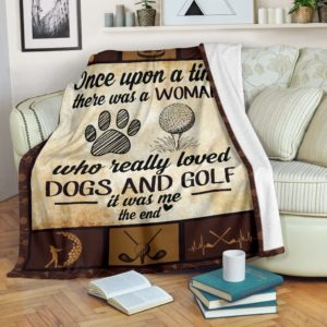 Once upon a time - Dogs and golf@_proudteaching_Onc21d5g4f@premium-blanket Once Upon A Time - Dogs And Golf Fleece Blanket, Personalized Gifts, Custom Blanket 598291