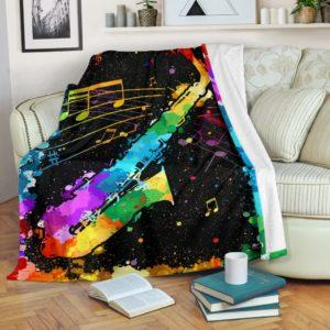 saxophone watercolor Blanket@_proudteaching_saxov11v212@premium-blanket Saxophone Watercolor Blanket Fleece Blanket, Personalized Gifts, Custom Blanket 598188