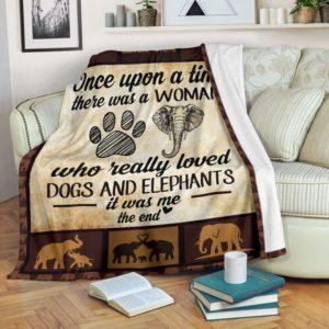 Once upon a time - Dogs and elephants@_proudteaching_elehy8678@premium-blanket Once Upon A Time - Dogs And Elephants Fleece Blanket, Personalized Gifts, Custom Blanket 598142