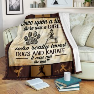 Once upon a time - Dogs and karate- girl@_proudteaching_Onv263dv6@premium-blanket Once Upon A Time - Dogs And Karate- Girl Fleece Blanket, Personalized Gifts, Custom Blanket 597895