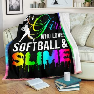 Softball Slime Blanket@_proudteaching_szxfsdg@premium-blanket Softball Slime Blanket Fleece Blanket, Personalized Gifts, Custom Blanket 597830