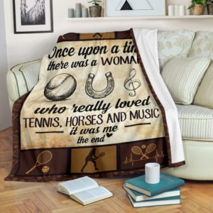 Once upon a time - tennis, horse and music@_proudteaching_Oncec23s236c56@premium-blanket Once Upon A Time - Tennis, Horse And Music Fleece Blanket, Personalized Gifts, Custom Blanket 597614