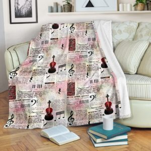 Violin - Classical Music Blanket@_proudteaching_vioclas673@premium-blanket Violin - Classical Music Blanket Fleece Blanket, Personalized Gifts, Custom Blanket 597550