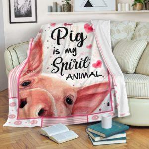 PIG FACE BLANKET@_proudteaching_jlkrw@premium-blanket Pig Face Blanket Fleece Blanket, Personalized Gifts, Custom Blanket 597309