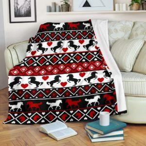 Horse Brocade Blanket@_animalaholic_Horse565df@premium-blanket Horse Brocade Blanket Fleece Blanket, Personalized Gifts, Custom Blanket 597129