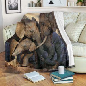 elephant we are family pre blanket@_animalaholic_elehuy58969@premium-blanket Elephant We Are Family Pre Blanket Fleece Blanket, Personalized Gifts, Custom Blanket 596965