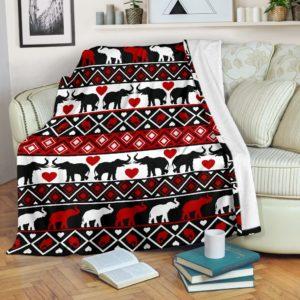 Elephant Brocade Blanket@_animalaholic_Elephant155@premium-blanket Elephant Brocade Blanket Fleece Blanket, Personalized Gifts, Custom Blanket 596730