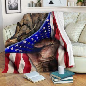 Elephant Hand Flag Blanket 2@_animallovepro_elebla7674443@premium-blanket Elephant Hand Flag Blanket 2 Fleece Blanket, Personalized Gifts, Custom Blanket 596640