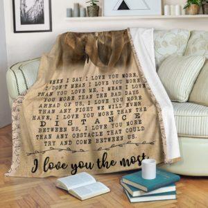 Elephant I Love You The Most Blanket@_animallovepro_Elephant524ds5f@premium-blanket Elephant I Love You The Most Blanket Fleece Blanket, Personalized Gifts, Custom Blanket 596497