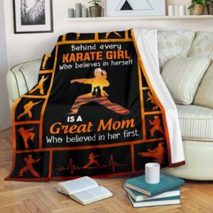 Behind every Karate Girl Pre Blanket@_summerlifepro_asdf@premium-blanket Behind Every Karate Girl Pre Blanket Fleece Blanket, Personalized Gifts, Custom Blanket 596463