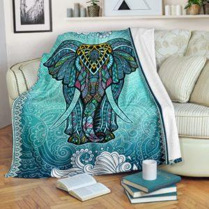 Elephant Mandala Art Color Blanket@_animallovepro_DGFHFGH@premium-blanket Elephant Mandala Art Color Blanket Fleece Blanket, Personalized Gifts, Custom Blanket 596437
