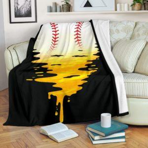 Baseball - Melting Sun Blanket@_summerlifepro_gjhhkj@premium-blanket Baseball - Melting Sun Blanket Fleece Blanket, Personalized Gifts, Custom Blanket 596398