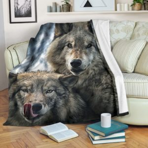 Wolves blanket LQT@_animallovepro_Wolves290@premium-blanket Wolves Blanket Lqt Fleece Blanket, Personalized Gifts, Custom Blanket 596203