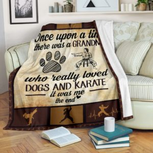 Once upon a time - Dogs and karate- grandma@_summerlifepro_Oncbfvghvhfgh@premium-blanket Once Upon A Time - Dogs And Karate- Grandma Fleece Blanket, Personalized Gifts, Custom Blanket 596125