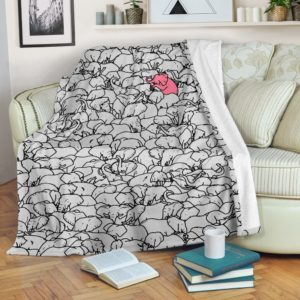 Elephant - Don't Blend Into the Crowd@_animallovepro_eledon98349@premium-blanket Elephant - Don'T Blend Into The Crowd Fleece Blanket, Personalized Gifts, Custom Blanket 595735