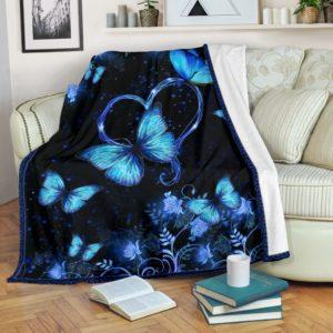 Butterfly Heart And Flower Neon Pre Blanket - TL@_animallovepro_hjfhr57657@premium-blanket Butterfly Heart And Flower Neon Pre Blanket - Tl Fleece Blanket, Personalized Gifts, Custom Blanket 595566