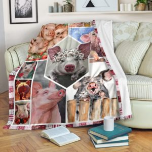 All About Pig@_shoesnp_th_32_all_about_pig@premium-blanket All About Pig Fleece Blanket, Personalized Gifts, Custom Blanket 595241