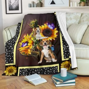Beagle dark sunflower blanket d@_shoesnp_dt_10_Beagle_dark_sunflower_blanket_d@premium-blanket Beagle Dark Sunflower Blanket D Fleece Blanket, Personalized Gifts, Custom Blanket 595046