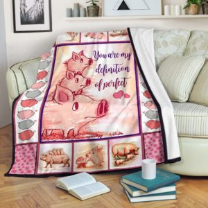 Pig - You are my definition of perfect Blanket SKY@_animallovepro_rylghjf@premium-blanket Pig - You Are My Definition Of Perfect Blanket Sky Fleece Blanket, Personalized Gifts, Custom Blanket 595007